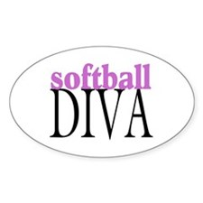 Softball Diva Oval Decal