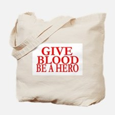 GIVE BLOOD Tote Bag