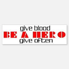 GIVE BLOOD Bumper Bumper Bumper Sticker