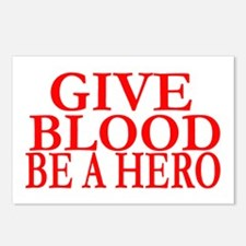 GIVE BLOOD Postcards (Package of 8)