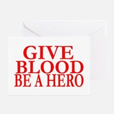 GIVE BLOOD Greeting Cards (Pk of 10)