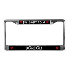 Borzoi License Plate Frame