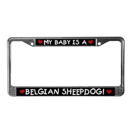 Belgian Sheepdog License Plate Frame