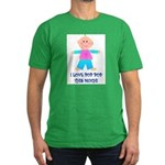 I LOVE POP POP GIRL Men's Fitted T-Shirt (dark)