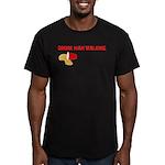 Drunk Man Walking Men's Fitted T-Shirt (dark)