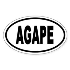 Agape Euro Style Oval Decal