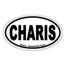 Charis Euro Style Oval Decal