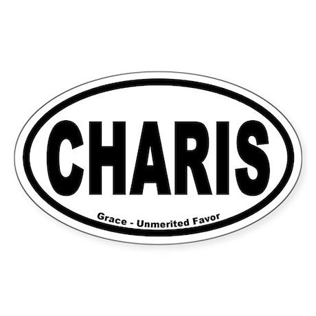 Charis Euro Style Oval Sticker