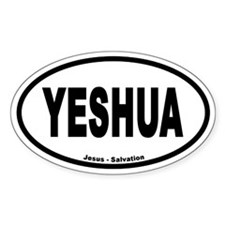 Yeshua Euro Style Oval Decal