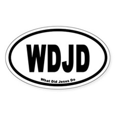 WDJD Euro Style Oval Decal