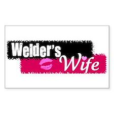 Welder's Wife Rectangle Bumper Stickers