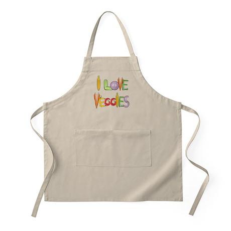 I Love Veggies apron