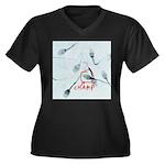 Champion Women's Plus Size V-Neck Dark T-Shirt