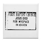 myspace jesus Tile Coaster