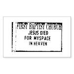 myspace jesus Rectangle Sticker