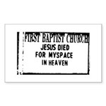 myspace jesus Rectangle Sticker 10 pk)