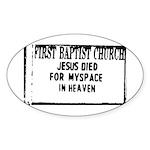 myspace jesus Oval Sticker