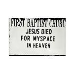 myspace jesus Rectangle Magnet (10 pack)