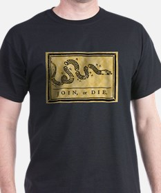 Join Or Die Flag Delux T-Shirt