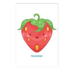 Kawaii Strawberry Postcards (Package of 8)