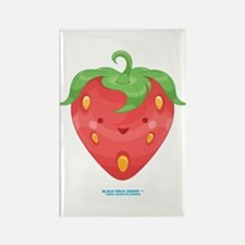 Kawaii Strawberry Rectangle Magnet