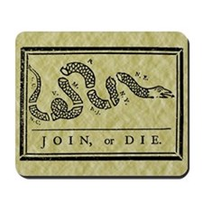 Join Or Die Flag Mousepad