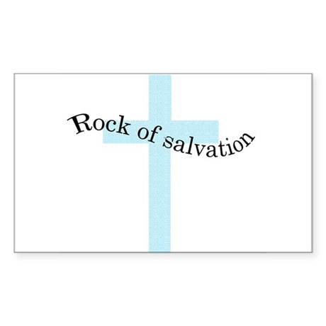 Rock of salvation Rectangle Sticker