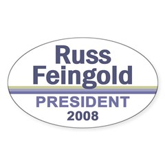 RUSS FEINGOLD 2008 Oval Decal