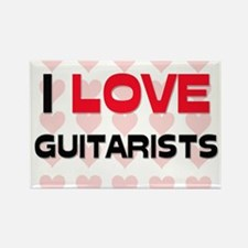 I LOVE GUITARISTS Rectangle Magnet