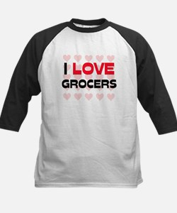 I LOVE GROCERS Kids Baseball Jersey