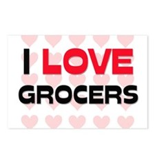I LOVE GROCERS Postcards (Package of 8)