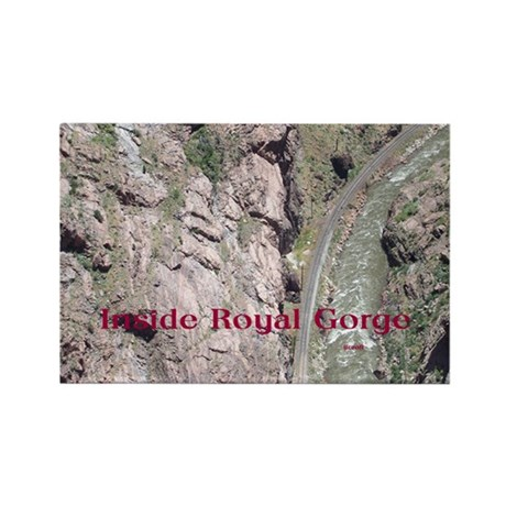 Inside Royal Gorge Rectangle Magnet