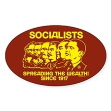 Socialists Obama Oval Decal