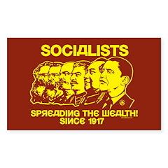 Socialists Obama Rectangle Sticker 50 pk)