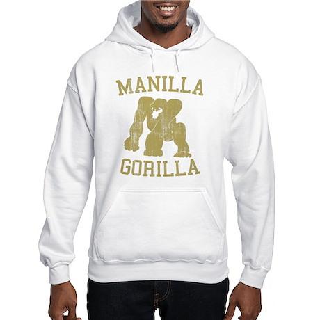 manilla gorilla mohammed ali retro Hooded Sweatshi