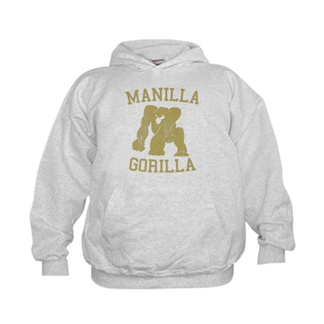 manilla gorilla mohammed ali retro Kids Hoodie