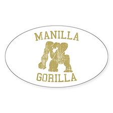 manilla gorilla mohammed ali retro Oval Decal