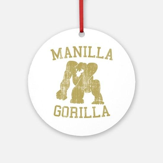 manilla gorilla mohammed ali retro Ornament (Round
