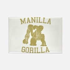 manilla gorilla mohammed ali retro Rectangle Magne