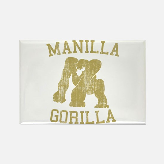manilla gorilla mohammed ali retro Rectangle Magne
