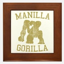 manilla gorilla mohammed ali retro Framed Tile