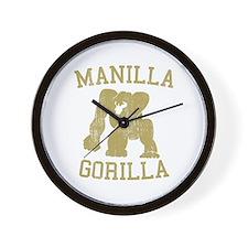 manilla gorilla mohammed ali retro Wall Clock