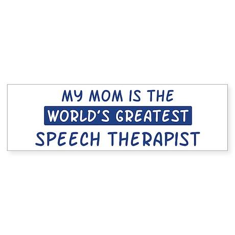 Speech Therapist Mom Bumper Sticker
