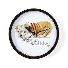 Bulldog Puppy Wall Clock