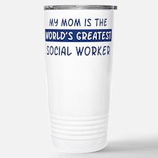 Social Worker Mom Travel Mug