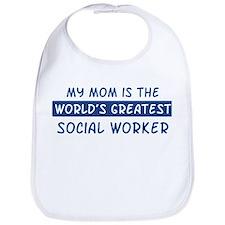 Social Worker Mom Bib