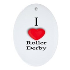 Roller Derby Oval Ornament