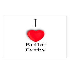 Roller Derby Postcards (Package of 8)