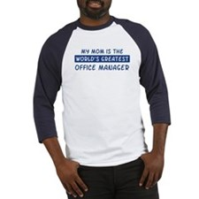 Office Manager Mom Baseball Jersey