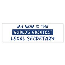 Legal Secretary Mom Bumper Bumper Sticker